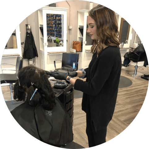 hair stylist at salon yeager